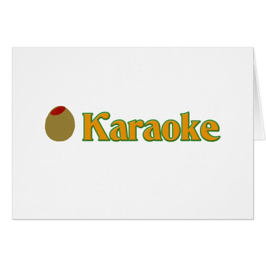 Olive (I Love) Karaoke Card