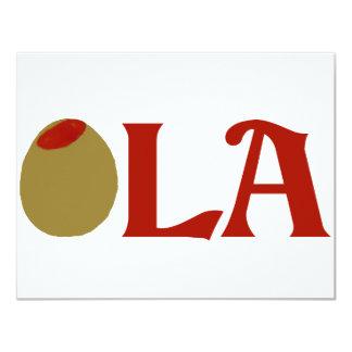 OLIVE (I Love) LA Card
