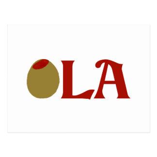 OLIVE (I Love) LA Postcard