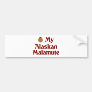 Olive (I Love) My Alaskan Malamute Car Bumper Sticker