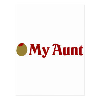 Olive (I Love) My Aunt Postcard