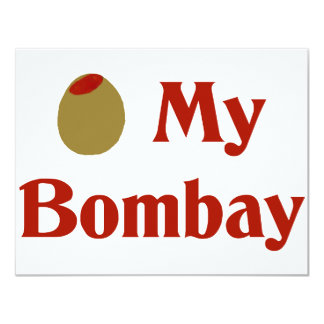 Olive (I Love) My Bombay Custom Announcements