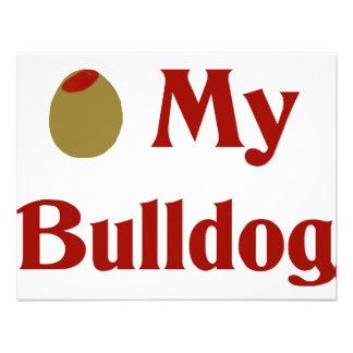 Olive (I Love) My Bulldog Custom Announcements