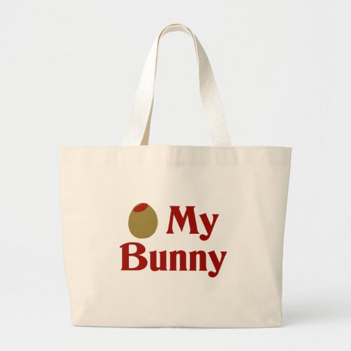 Olive (I Love) My Bunny Canvas Bags