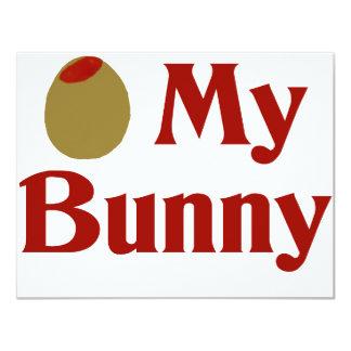 Olive (I Love) My Bunny Invitation