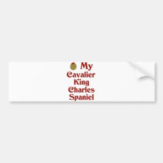 Olive (I Love) My Cavalier King Charles Spaniel Car Bumper Sticker