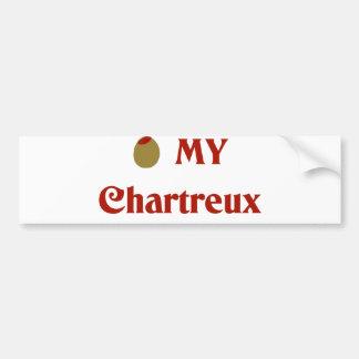 Olive (I Love) My Chartreux Bumper Sticker