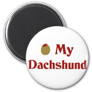 Olive (I Love) My Dachshund Magnet