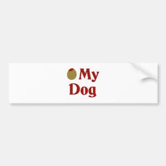 Olive (I Love) My Dog Bumper Sticker