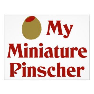 Olive I Love My Miniature Pinscher Custom Invite