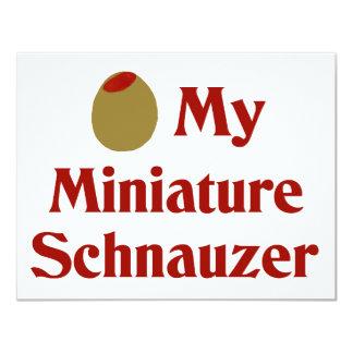 Olive (I Love) My Miniature Schnauzer Card