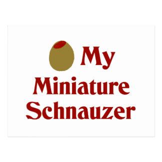 Olive (I Love) My Miniature Schnauzer Postcard