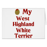 Olive (I Love) My West Highland White Terrier Cards