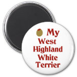 Olive (I Love) My West Highland White Terrier Magnets