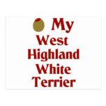 Olive (I Love) My West Highland White Terrier Postcard