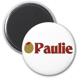 Olive (I Love) Paulie 2 Inch Round Magnet