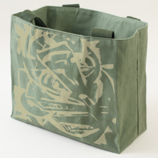 Olive is Never Drab Abstract Tote