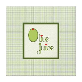 Olive Juice Canvas Print