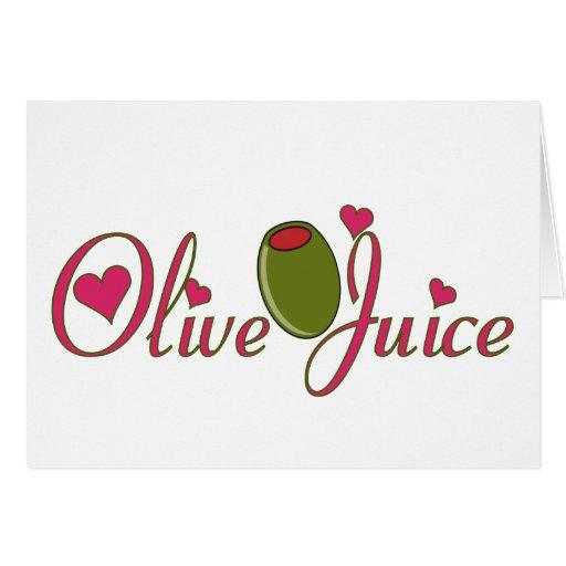 Olive Juice Greeting Card | Zazzle