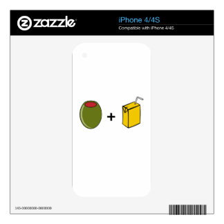 Olive Juice I Love You Skins For iPhone 4