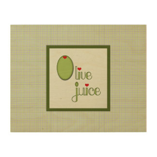 Olive Juice Wood Canvases