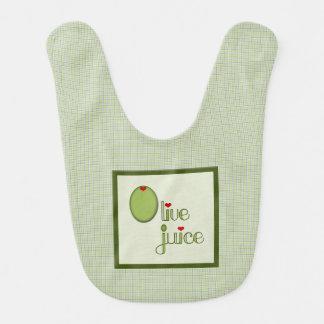 Olive Juice Baby Bib