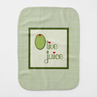 Olive Juice Baby Burp Cloth