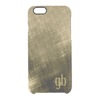 olive khaki black grungy tweed clear iPhone 6/6S case