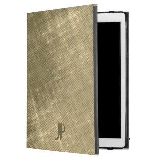 olive khaki black grungy tweed iPad pro case