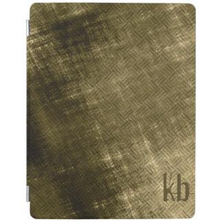 olive khaki black grungy tweed iPad smart cover
