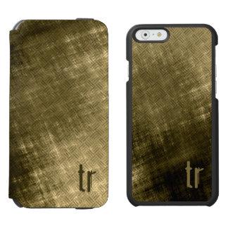 olive khaki black grungy tweed iPhone 6/6s wallet case