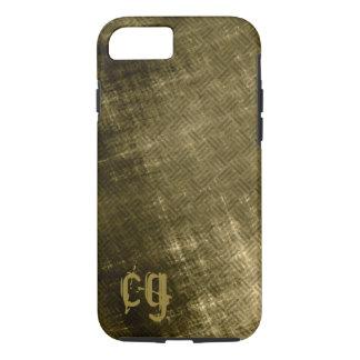 olive khaki black grungy tweed look iPhone 7 case