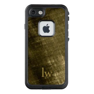 olive khaki black grungy tweed monogram LifeProof FRĒ iPhone 7 case