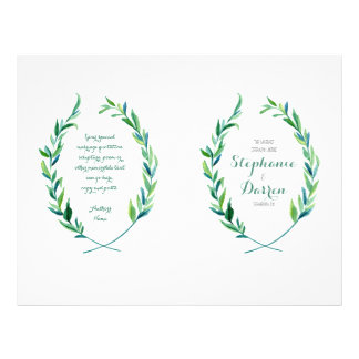 Olive Laurel Leaf Wreath Modern Ceremony Program Flyer