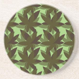 Olive Layered Leaves Coaster