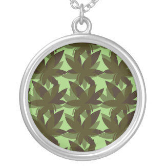 Olive Layered Leaves Necklace