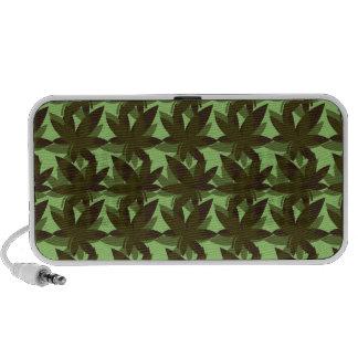 Olive Layered Leaves Speaker
