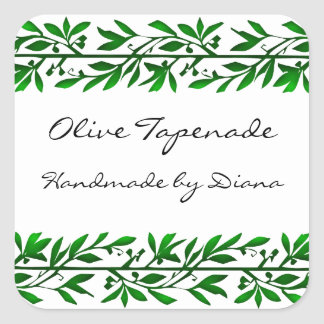 Olive Leaf Custom Recipe or Soap Label Stickers