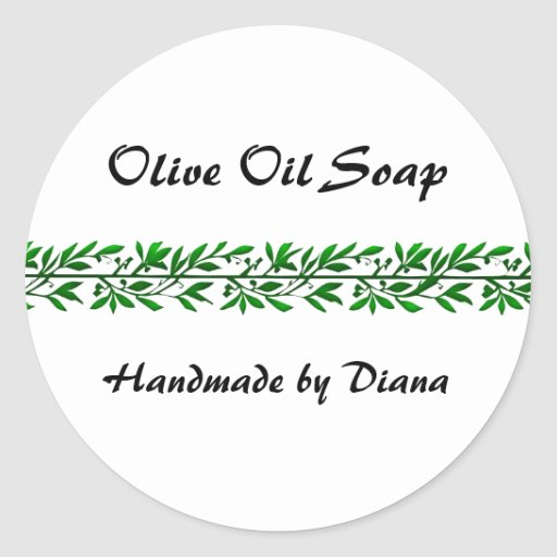 Olive Leaf Custom Soap or Canning Label Stickers
