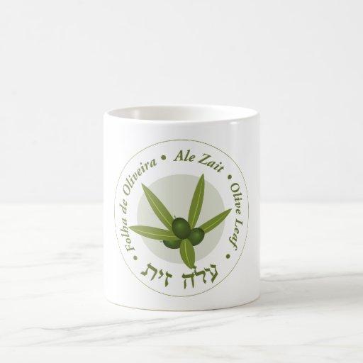 Olive leaf Seal folha de oliveira ale zait Classic White Coffee Mug