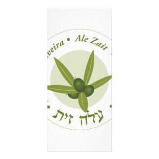 Olive leaf Seal folha de oliveira ale zait Custom Rack Cards