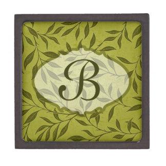 Olive Leafy Vine Pattern Keepsake Box