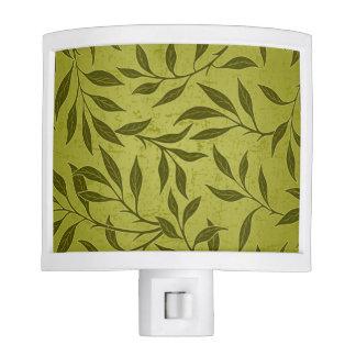 Olive Leafy Vine Pattern Night Light