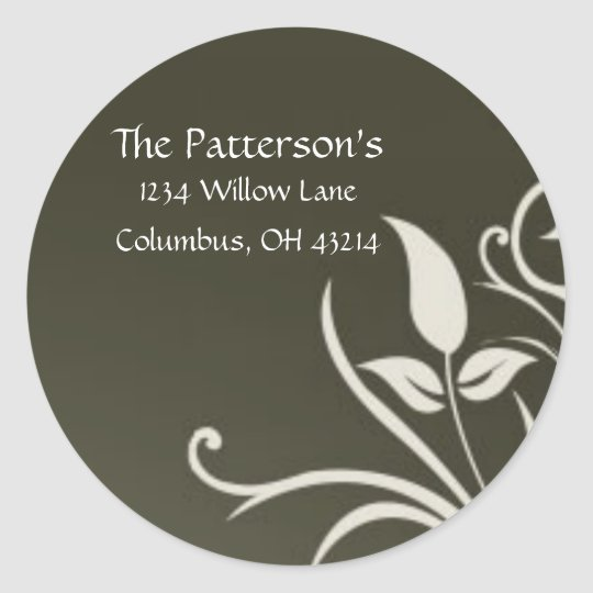 Olive Leaves Address Labels/Stickers Classic Round Sticker