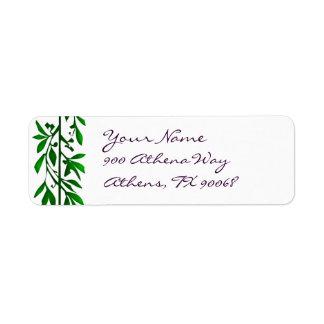 Olive Leaves Custom Address Labels