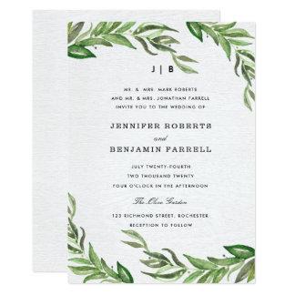 Olive Leaves Wedding Invitation
