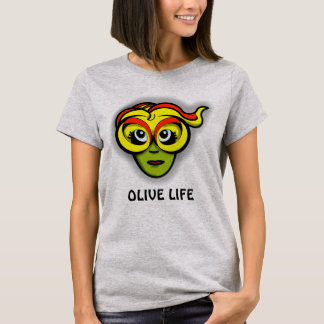 OLIVE LIFE GREEN LADY by Slipperywindow T-Shirt