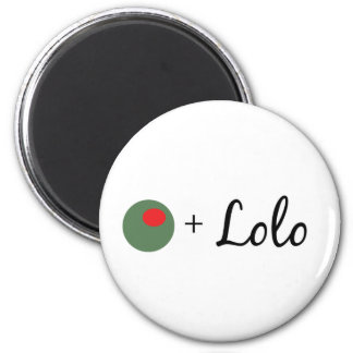 Olive Lolo 2 Inch Round Magnet