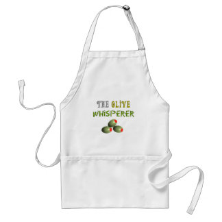 """Olive Lovers Gifts """"The Olive Whisperer"""" Adult Apron"""