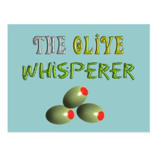 "Olive Lovers Gifts ""The Olive Whisperer"" Postcard"